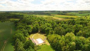 vue aérienne Le Bois de Rosoy