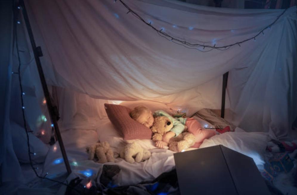 Cabane intérieure enfants DIY