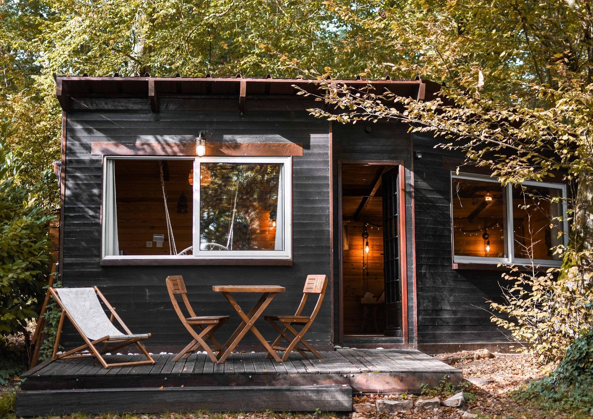 cabane dans les bois près de Paris